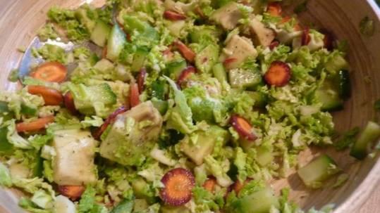 salade de choux vert Les jardins de la cote rotie vente legume ampuis